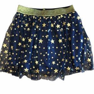 Wonder Woman Sparkle Star Navy Blue Skirt - Sz M